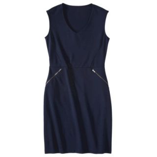 Mossimo Womens Ponte Sleeveless Dress w/ Zippered Pockets   Xavier Navy M