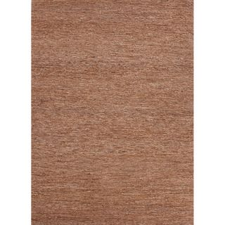 Hand woven Naturals Solid Pattern Brown Rug (36 X 56)