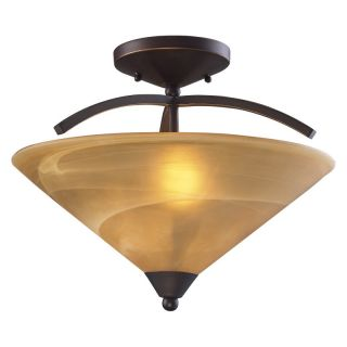 Elk Lighting Elysburg Semi Flush Ceiling Light   16W in. Aged Bronze   7643/2