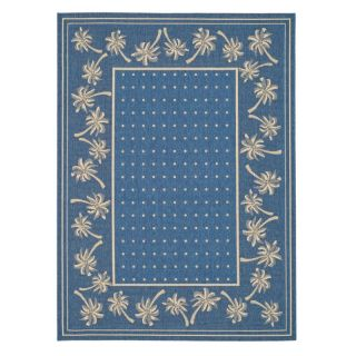 Safavieh Courtyard CY5148C Area Rug Blue/Ivory   CY5148C 5, 5.25 x 7.58 ft.