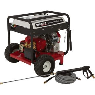 NorthStar Super High Flow Gas Cold Water Pressure Washer   6.0 GPM, 3000 PSI,