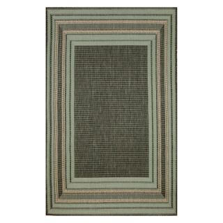 Trans Ocean Import Co Terrace Etched Border Indoor / Outdoor Rugs Terracotta