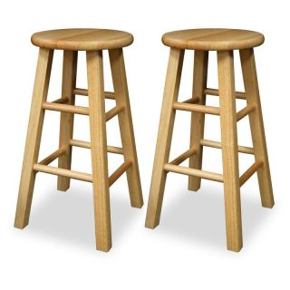 Winsome Wood 24 Inch Square Leg Counter Stool   Set of 2 Multicolor   83224