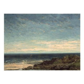 Trademark Global Inc The Sea Canvas Art by Gustave Courbet   35W x 47H in.