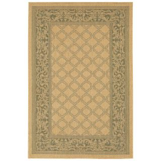 Couristan Recife Garden Lattice Indoor/Outdoor Area Rug   Natural/Green