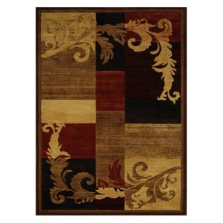 Home Dynamix HD1258 Catalina Area Rug   Brown Red   HD1258 539 CATALINA 264, 5.