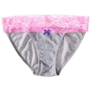 Xhilaration Juniors Wide Lace Cotton Bikini   Pink L
