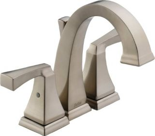 Delta 4551SS Bathroom Faucet, Dryden TwoHandle MiniWidespread Brilliance Stainless
