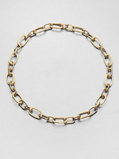Marco Bicego 18K Yellow Gold Oblong Link Necklace   Gold