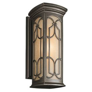 Kichler 49228OZ Outdoor Light, Classic (Formal Traditional) Wall Lantern 1 Light Fixture Olde Bronze