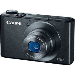 Canon PowerShot S110 Black Compact High Performance Digital Camera