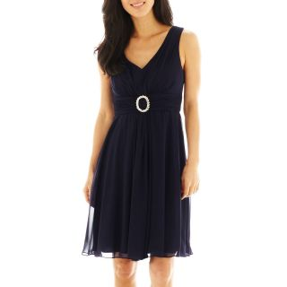 JESSICA HOWARD Ruched Waist A Line Dress, Navy