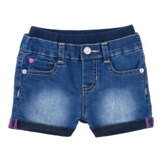 Lee Embroidered Butterfly Shorts   Girls 12m 4y, Blue, Blue, Girls