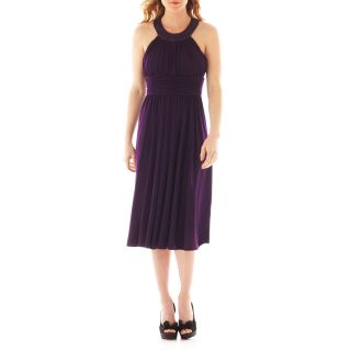 JESSICA HOWARD Sleeveless Beaded Dress, Eggplant (Purple)
