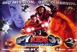 Spy Kids 3 D Game Over (British Quad) Movie Poster