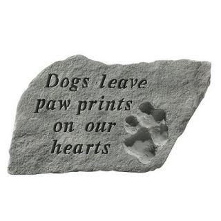 Dogs Leave Paw Prints Garden Stone