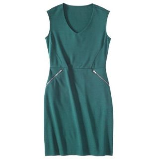 Mossimo Womens Ponte Sleeveless Dress w/ Zippered Pockets   Seaside Teal M