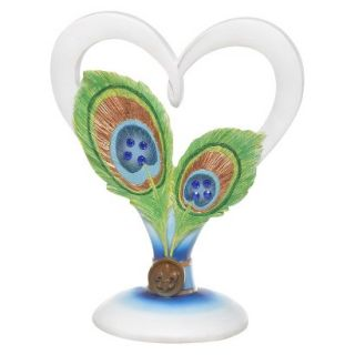 Peacock Heart Shaped Cake Top
