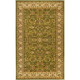 Lyndhurst Collection Sage/ivory Polypropylene Rug (8 X 11)