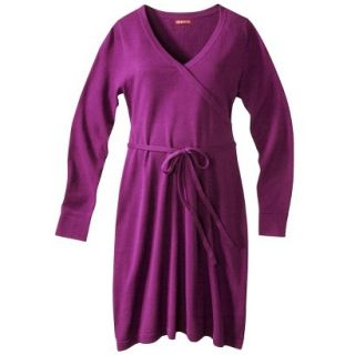 Merona Maternity Long Sleeve V Neck Sweater Dress   Purple M