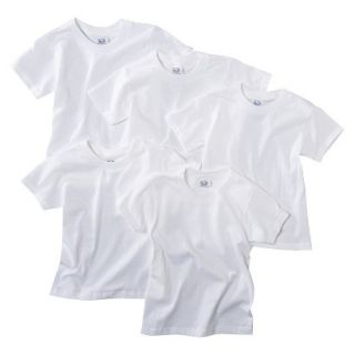 Fruit Of The Loom Boys 5 pack Crew Neck Short Sleeve Tees   White M(6 8)