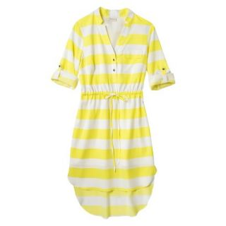 Merona Womens Drawstring Shirt Dress   Striped   M