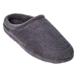 Totes Elements Mens Microterry Clog Slippers   Gray M