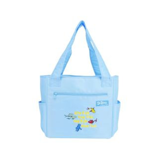 Trend Lab Dr. Seuss One Fish, Two Fish Tote Diaper Bag, Blue