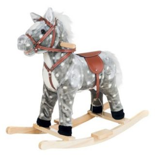 Happy Trails Rocking Haley Horse   Gray