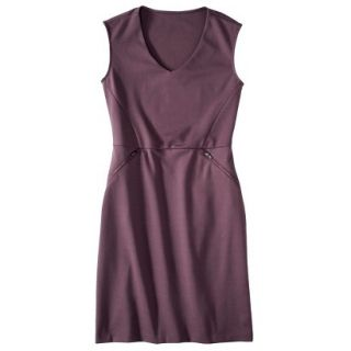 Mossimo Womens Ponte Sleeveless Dress w/ Zippered Pockets   Berry Lacquer XXL