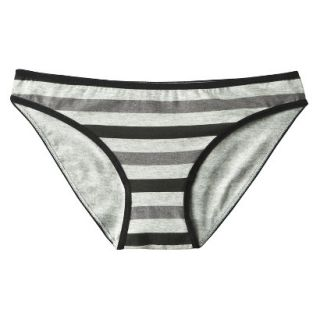 Xhilaration Juniors Cotton Bikini   Grey Rugby Stripe JL
