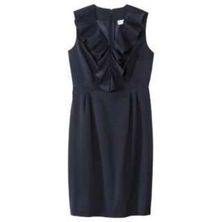 Merona Petites Sleeveless Sheath Dress   Blue 14P