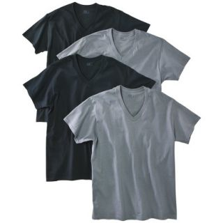 Fruit of the Loom Mens 4 pack V neck Tee   Assorted Colors M
