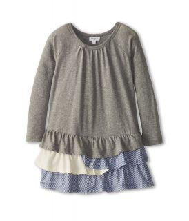 Splendid Littles Triblend L/S Drop Waist Dress Girls Dress (Gray)