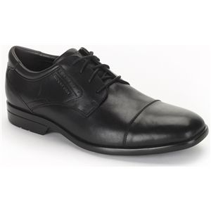 Rockport Mens Business Lite Cap Toe Black Shoes, Size 15 W   K73321