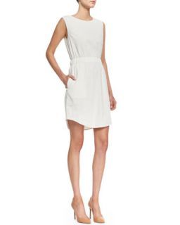 Womens Crunch Sleeveless Easy Waist Dress   Theory