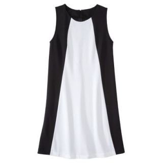 Mossimo Womens Colorblock Shift Dress   Black/Fresh White XL