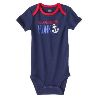 Just One YouMade by Carters Newborn Boys Single Bodysuit   Alpha Blue 3 M
