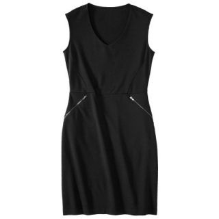 Mossimo Womens Ponte Sleeveless Dress w/ Zippered Pockets   Black XL