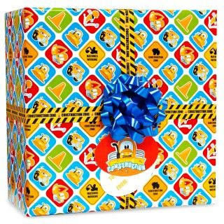 Construction Pals Gift Wrap Kit
