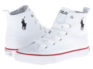 Polo Ralph Lauren Kids Harbour Hi Boys Shoes (White)