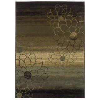 Abstract Floral Area Rug   Brown (78x1010)