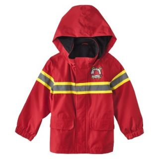 Just One You by Carters Infant Toddler Boys Fire Rescue Raincoat   Red 12 M