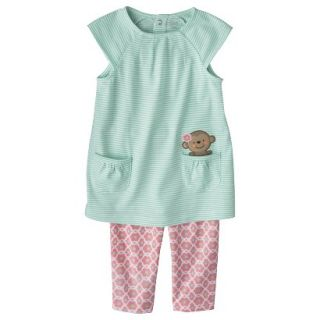 Just One YouMade by Carters Toddler Girls 2 Piece Set   Light Blue/Pink 4T