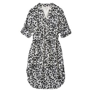 Merona Womens Drawstring Shirt Dress   Animal Print   S