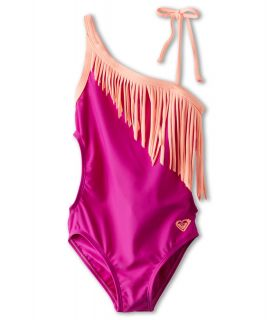 Roxy Kids Little Beauty One Shoulder One Piece Girls Swimsuits One Piece (Pink)