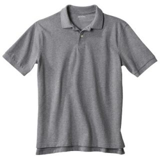 Mens Classic Fit Polo Shirt Heather Gray Grey M
