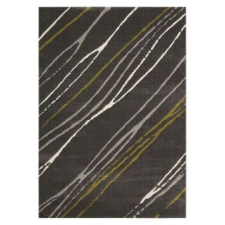 Safavieh Contemporary Stripes Area Rug   Dark Gray (53x77)