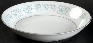 Style House Damask (Rim Shape) Coupe Soup Bowl, Fine China Dinnerware   White Fl