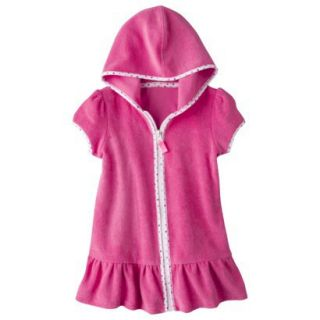 Circo Infant Toddler Girls Hooded Cover Up Dress   Pink 2T